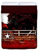 The Gate To Texas  Duvet Cover