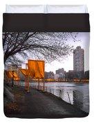 The Gates - Central Park New York - Harlem Meer Duvet Cover by Gary Heller