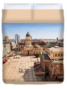 The Gendarmenmarkt And German Cathedral In Berlin Duvet Cover