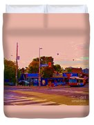 The Georgetown Sports Pub Soccer Bar Bank St The Glebe Paintings Of Ottawa Carole Spandau Artist Duvet Cover