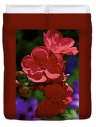 The Geraniums Duvet Cover
