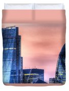 The Gherkin And The Cheesgrater London Duvet Cover