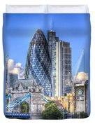 The Gherkin And Tower Bridge Duvet Cover