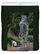 The Ghost Of Gardeners Past Duvet Cover