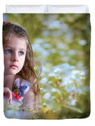 The Girl And The Butterfly Duvet Cover