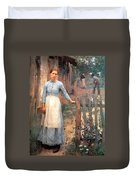 The Girl At The Gate Duvet Cover