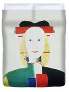 The Girl With The Hat Duvet Cover