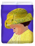 The Girl With The Straw Hat Duvet Cover