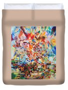 The Giving Of The Torah Duvet Cover
