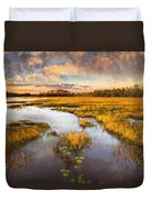 The Glades At Sunset Duvet Cover