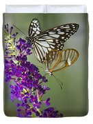 The Glasswing And A Friend  Duvet Cover
