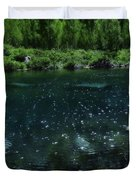 The Glimmer Of Maroon Lake Duvet Cover
