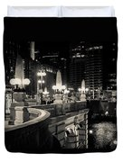 The Glow Over The River Duvet Cover
