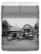 The Goat Carriages Coney Island 1900 Duvet Cover
