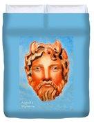 The God Jupiter Or Zeus.  Duvet Cover