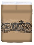 The Gold Medal Motorcycle 1925 Duvet Cover