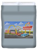 The Golden Age Of The Golden Arches Duvet Cover
