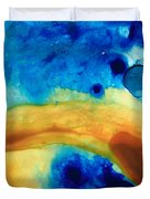 The Golden Gate - Abstract Art By Sharon Cummings Duvet Cover