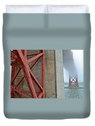 The Golden Gate - Fort Point View Duvet Cover