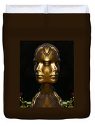 The Golden Girl At Caesar's Palace Duvet Cover