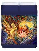 The Golden Griffin Duvet Cover by Elena Kotliarker