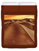 The Golden Hour Anza Borrego Desert Duvet Cover