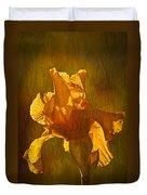 The Golden Iris Duvet Cover