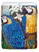 The Golden Macaw Duvet Cover