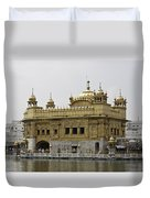 The Golden Temple In Amritsar Duvet Cover