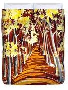 The Golden Way Duvet Cover
