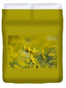 The Golden Wildflowers Duvet Cover
