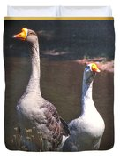 The Goose And The Gander Duvet Cover
