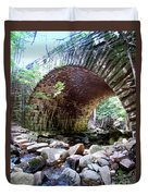 The Gorge Trail Stone Bridge Duvet Cover