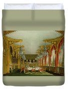 The Gothic Dining Room At Carlton House Duvet Cover