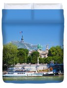 The Grand Palais And The Alexandre Bridge Paris Duvet Cover