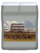 The Grand Stand At Epsom Races, Print Duvet Cover