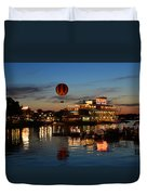 The Great And Powerful Oz Over Downtown Disney Duvet Cover