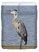 The Great Blue Heron Photo Duvet Cover