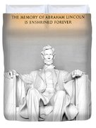 The Great Emancipator Duvet Cover