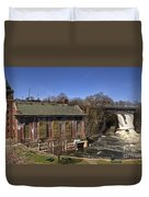 The Great Falls In Paterson Duvet Cover