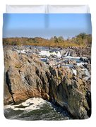The Great Falls Of The Potomac Panorama Duvet Cover