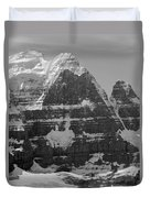 1m3752-bw-the Great North Face Of North Twin Duvet Cover