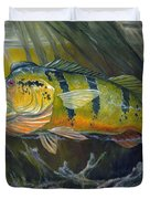 The Great Peacock Bass Duvet Cover by Terry  Fox