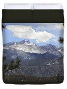 The Rocky Mountains - Colorado Duvet Cover by Mike McGlothlen