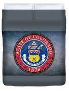 The Great Seal Of The State Of Colorado Duvet Cover
