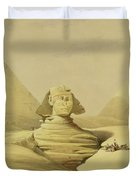 The Great Sphinx And The Pyramids Of Giza Duvet Cover