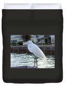 The Great White Egret Duvet Cover