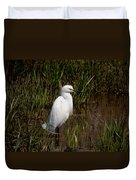 The Great White Heron Duvet Cover