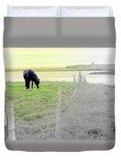 The Long Green Fields Back Home  Duvet Cover