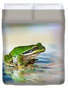 The Green Frog Duvet Cover by Robert Bales